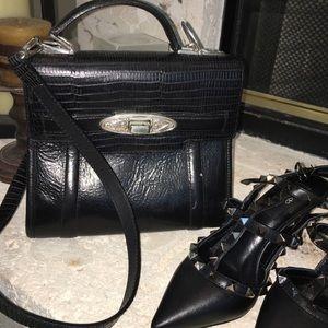 Vintage Brighton small black leather shoulder bag